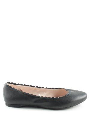 H&M Ballerinas mit Spitze schwarz Casual-Look