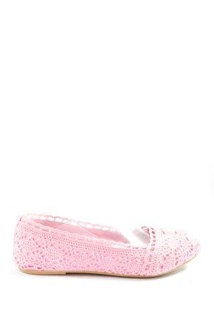 H&M Ballerinas mit Spitze pink Casual-Look