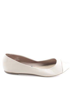 H&M Bailarinas con punta blanco puro look casual