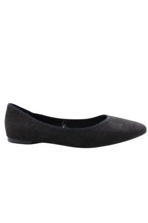 H&M Ballerinas mit Spitze schwarz Business-Look