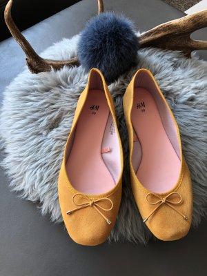 H&M Ballerinas senf gelb