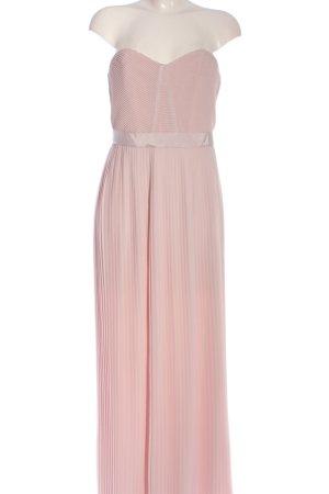 H&M Vestido de baile rosa estampado a rayas elegante