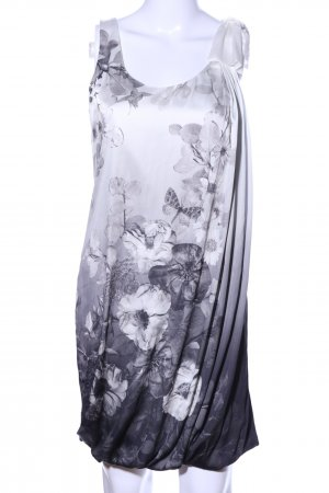 H&M Ballonkleid hellgrau Motivdruck Elegant