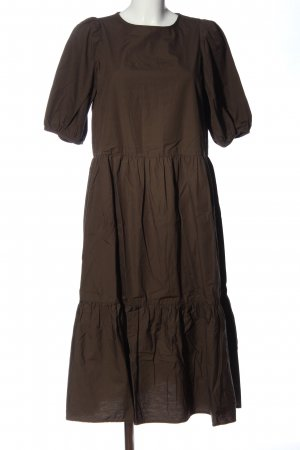 H&M Balloon Dress bronze-colored flecked casual look