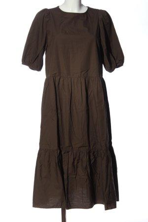 H&M Sukienka z rękawem balonowym brąz Melanżowy W stylu casual