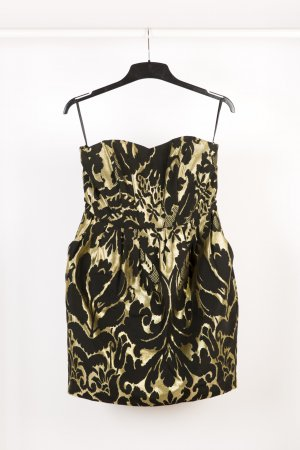 H&M Balloon Dress black-gold-colored