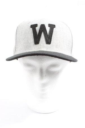 H&M Cappello da panettiere grigio chiaro-nero puntinato stile casual
