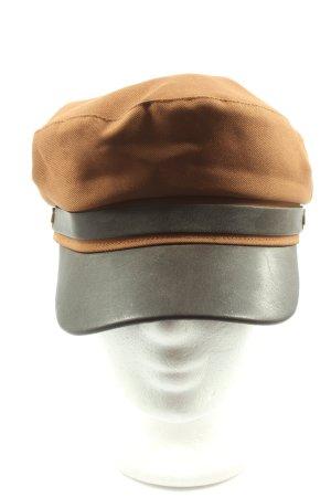H&M Gorra redonda con visera marrón estampado a rayas look casual
