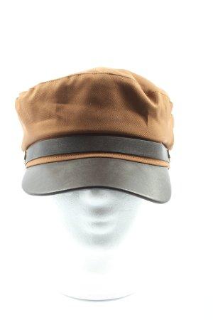H&M Cappello da panettiere marrone-nero stile casual
