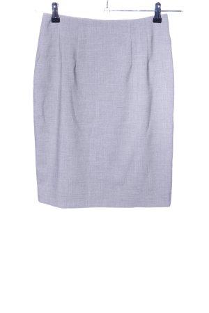 H&M Ballonrok lichtgrijs gestippeld zakelijke stijl