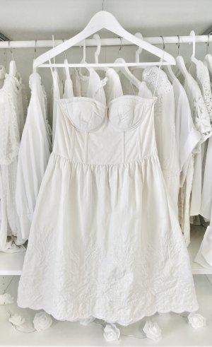 H&M Conscious Collection Robe bandeau blanc cassé-crème