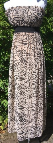 H&M Bandeau Kleid mit Animal Print Gr.S 36
