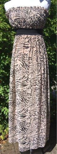 H&M Bandeau Kleid mit Animal Print Gr.S