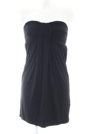 H&M Bandeaukleid schwarz Casual-Look