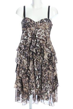 H&M Bandeau Dress brown allover print elegant