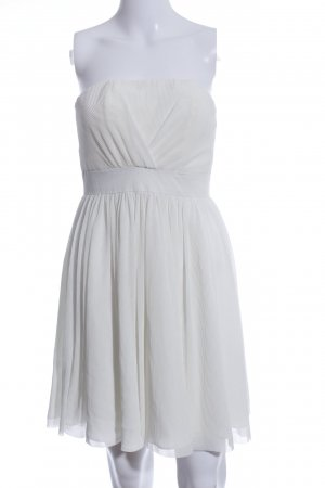H&M Bandeaukleid weiß Elegant