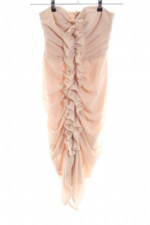 H&M Bandeaukleid nude Elegant