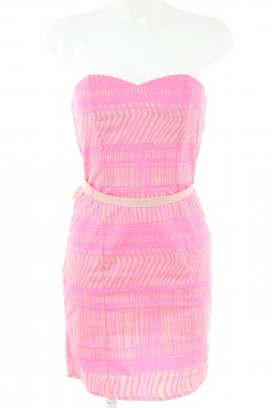 H&M Bandeaujurk roze-nude abstract patroon elegant