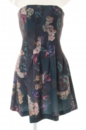 H&M Bandeau Dress flower pattern elegant