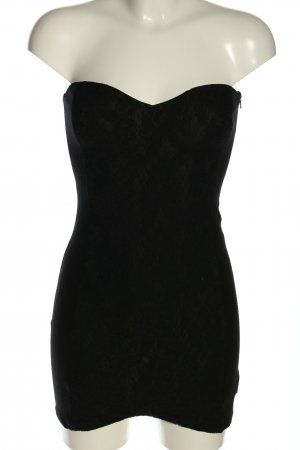 H&M Bandeaujurk zwart elegant