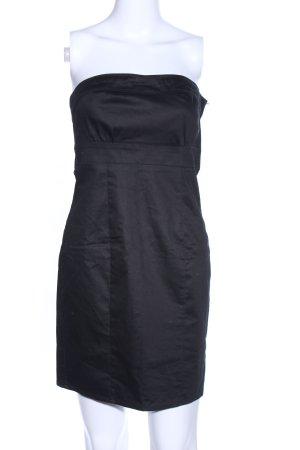 H&M Bandeaujurk zwart casual uitstraling