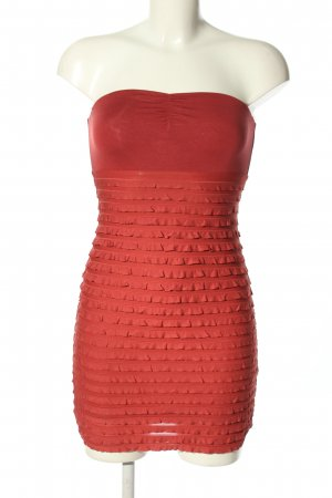 H&M Bandeaukleid rot Casual-Look