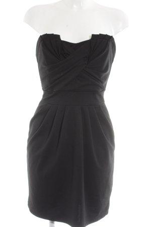 H&M Bandeaukleid schwarz Elegant