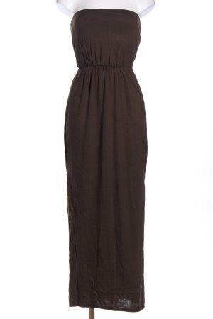 H&M Bandeau Dress brown casual look