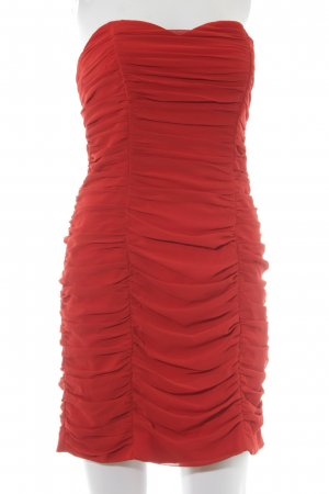 H&M Bandeaujurk rood elegant