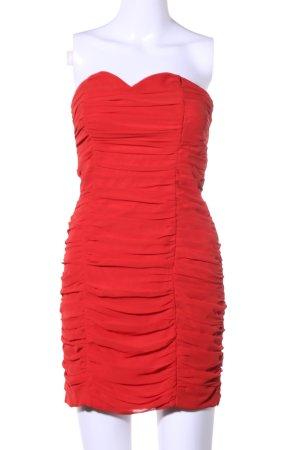 H&M Vestido bandeau rojo elegante