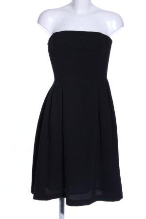 H&M Vestido bandeau negro tejido mezclado