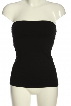 H&M Top bandeau negro look casual