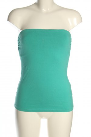 H&M Bandeau top turkoois casual uitstraling