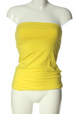 H&M Top a fascia giallo pallido stile casual