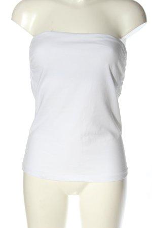H&M Bandeau Top white elegant