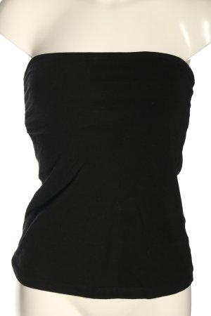 H&M Top z dekoltem typu bandeau czarny W stylu casual