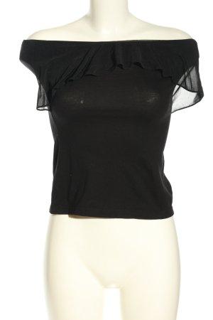 H&M Top a fascia nero stile casual
