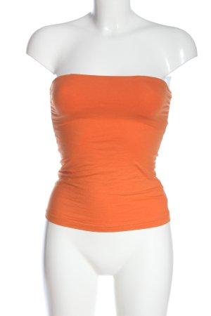 H&M Top z dekoltem typu bandeau jasny pomarańczowy W stylu casual
