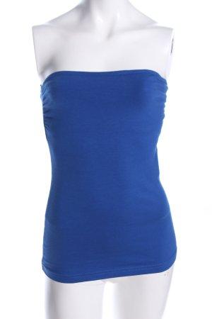 H&M Top z dekoltem typu bandeau niebieski W stylu casual
