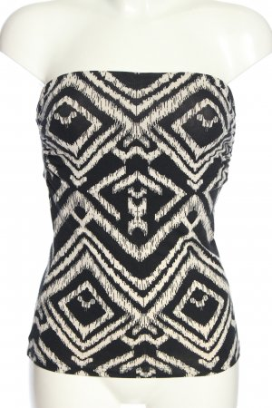 H&M Bandeau Top black-white allover print casual look