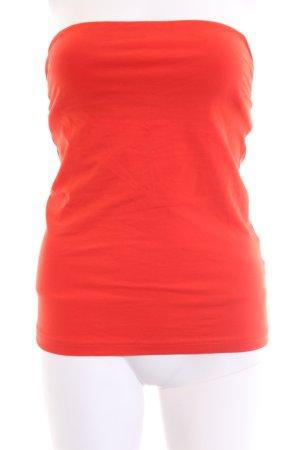 H&M Top z dekoltem typu bandeau czerwony W stylu casual