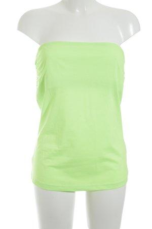 H&M Top z dekoltem typu bandeau zielony neonowy Wygląd w stylu miejskim