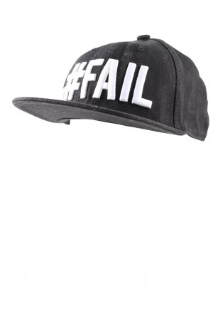 H&M Baseball Cap black-white printed lettering casual look
