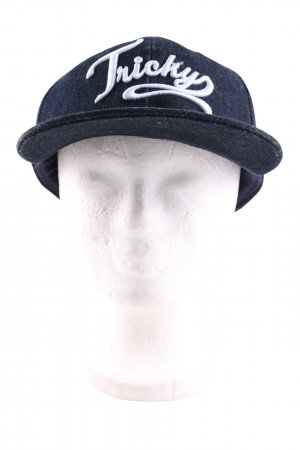 H&M Baseball Cap blue embroidered lettering casual look