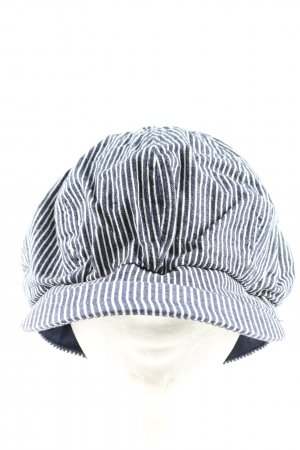 H&M Baseball Cap blue-white striped pattern casual look