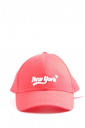 H&M Baseball Cap red printed lettering casual look