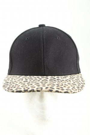 H&M Baseball Cap black-white leopard pattern casual look