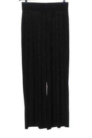 H&M Basic Baggy Pants schwarz Casual-Look