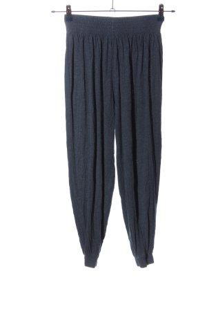 H&M Basic Baggy Pants blau meliert Casual-Look