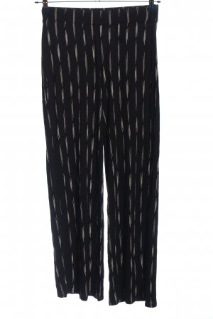 H&M Basic Palazzo Pants black-white allover print casual look